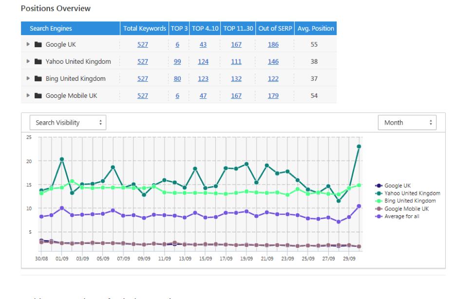 SEO Sight Rank Tracking Graph Keyword