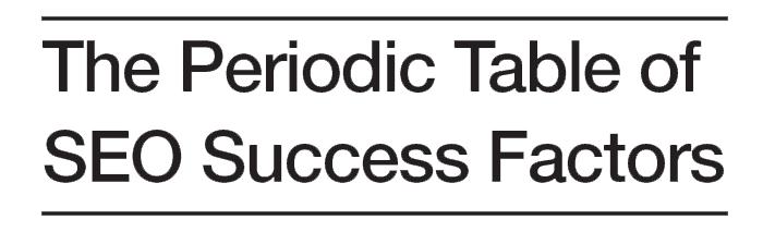 SEO Sight Banner Periodic Table of SEO Success Factors