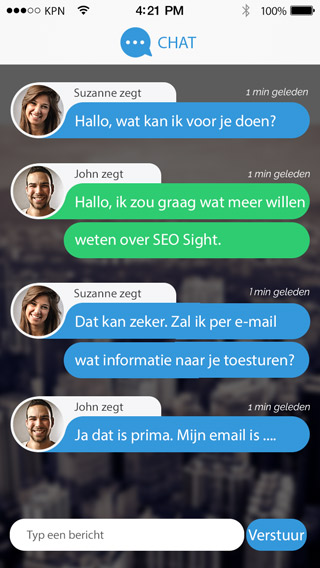 SEO Sight Messenger-Chat-Screen-PSD-320x568px