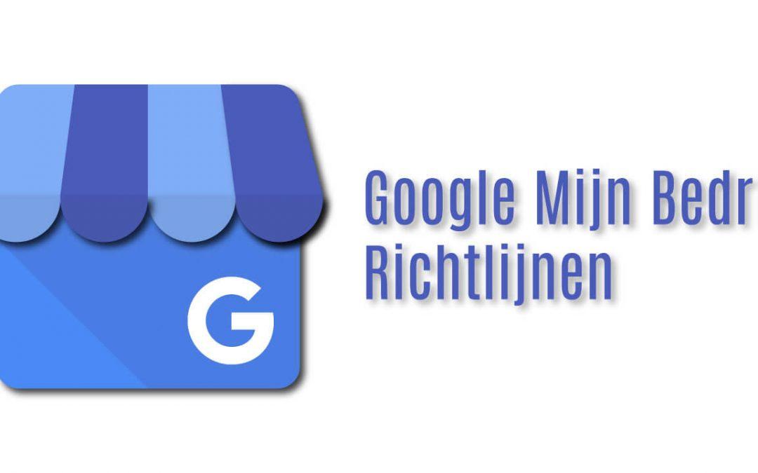 Google Mijn Bedrijf Richtlijnen
