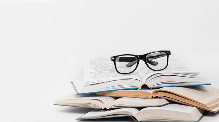 Bril op boeken